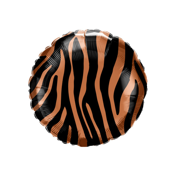 "Tiger Stripes Animal Print 18"" Foil Party Balloon"