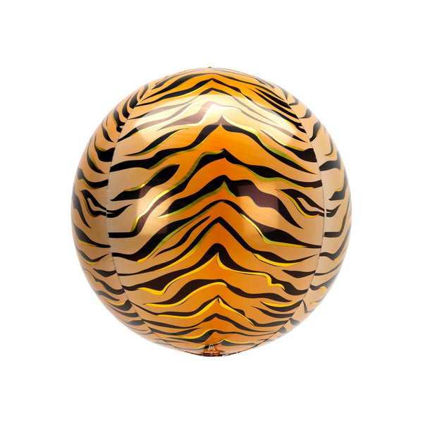 Tiger Print Orbz Balloon  orb balloon Anagram - Hello Party