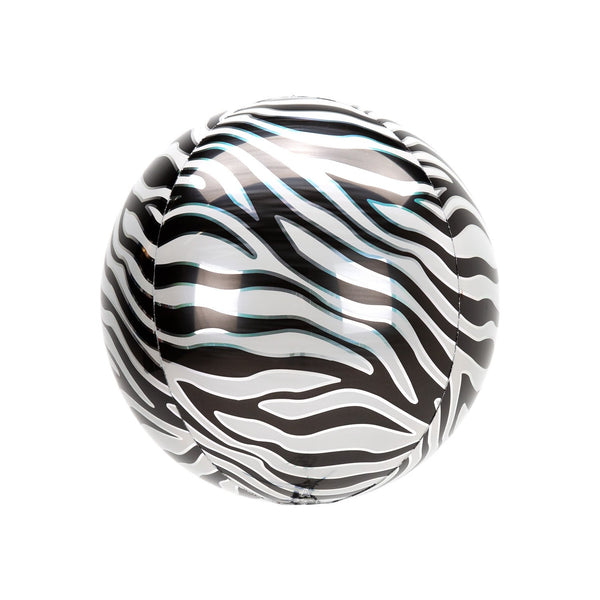 Zebra Print Orbz Balloon  orb balloon Anagram - Hello Party