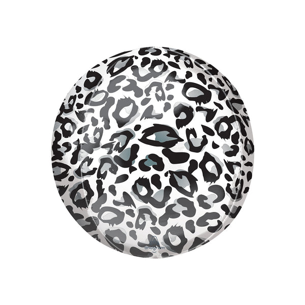 Snow Leopard Print Orbz Party Balloon