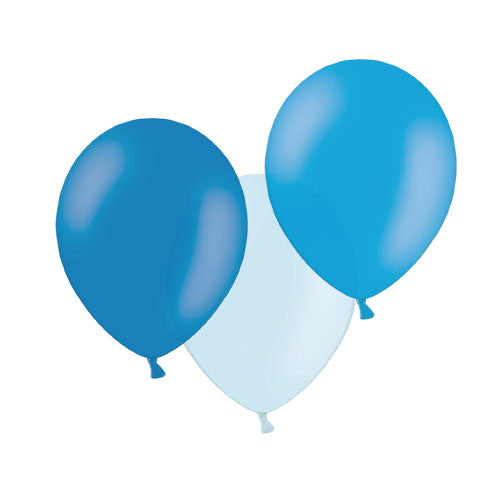 Bubbly Blue Mix Balloons  Latex Balloon Collections Hello Party Essentials - Hello Party