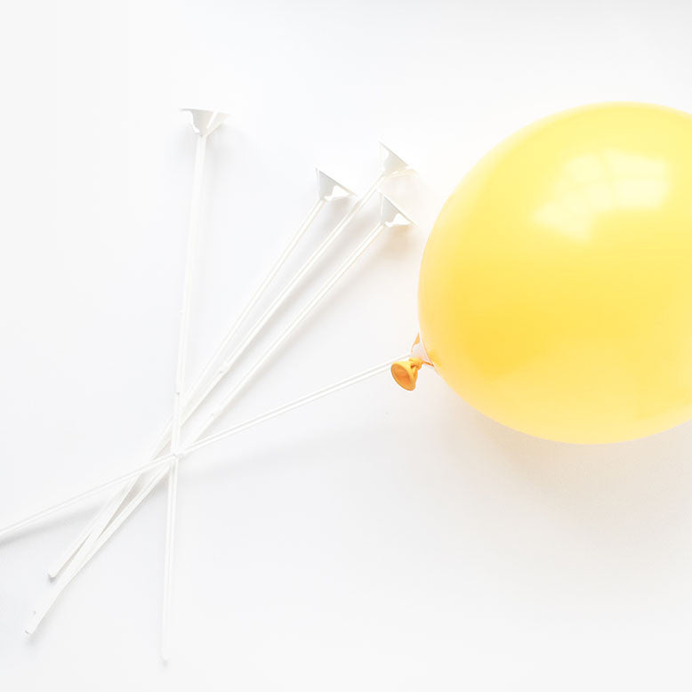 White Balloon Sticks (5 pack)  Balloon Accessories Hello Party - All you need to make your party perfect! - Hello Party