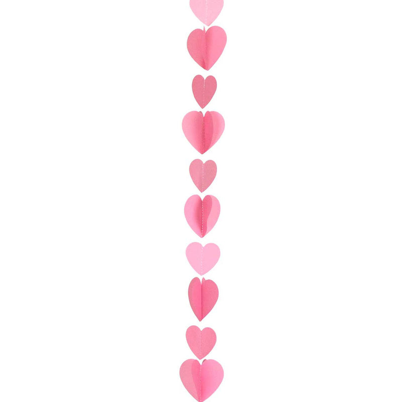 Pink Hearts Balloon Tail