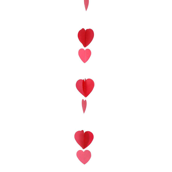 Red and White Hearts Balloon Tail