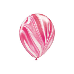 Red & White Marble Balloons  Marble Balloons Hello Party Essentials - Hello Party