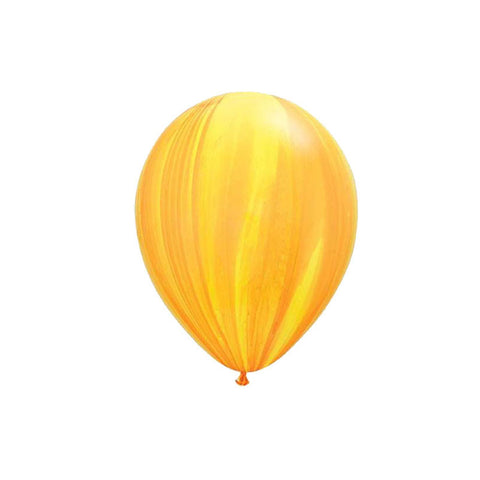 Orange & Yellow Marble Balloons