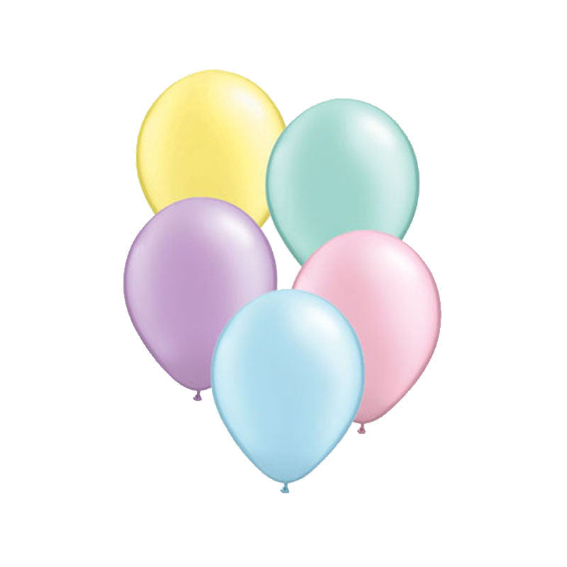 Pearly Pastel Mix Balloons  Latex Balloon Collections Hello Party Essentials - Hello Party