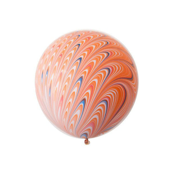 "Big Round Orange Marbled Balloon 18""  Big Round Latex Balloons Hello Party Essentials - Hello Party"