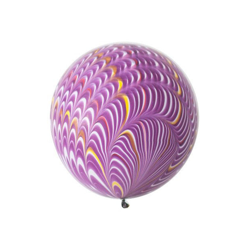 "Big Round Purple Marbled Balloon 18""  Big Round Latex Balloons Hello Party Essentials - Hello Party"