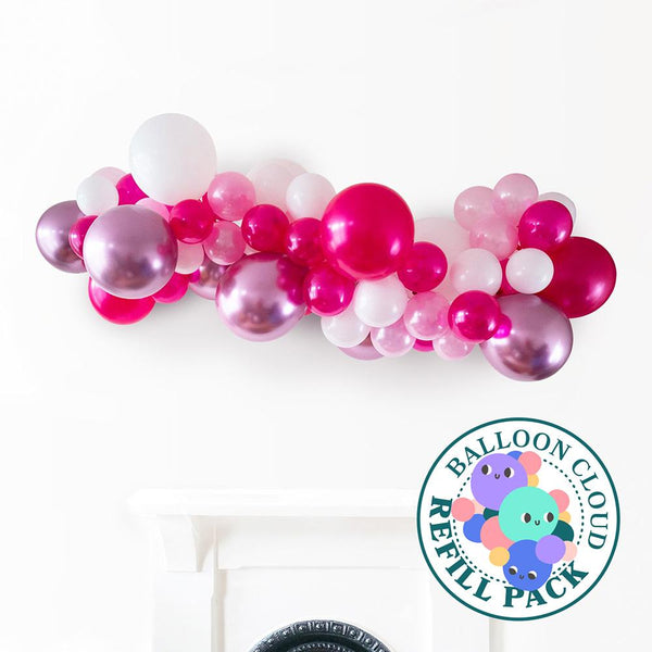 Polished Pink Balloon Cloud Refill Pack Hello Party DIY arch kits