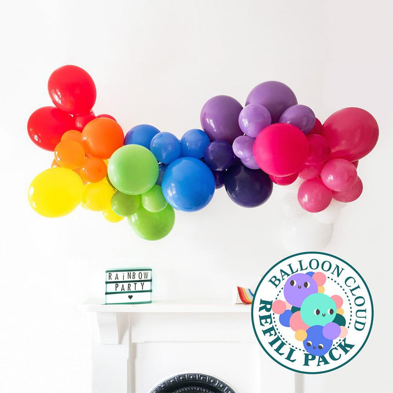 Rainbow Bright Balloon Cloud Refill Pack Hello Party DIY arch kits