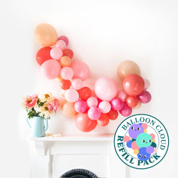 Coral Charm Balloon Cloud Kit Balloon Cloud Refill Pack Hello Party - Hello Party