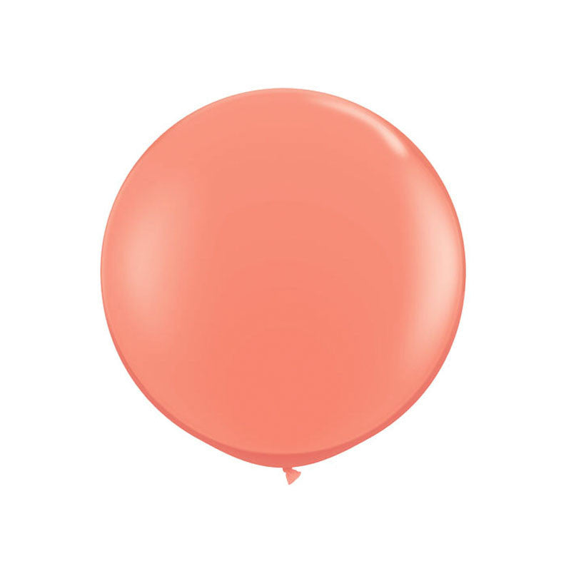 "Giant Round Coral Balloon 36""  Giant Round Latex Balloon Hello Party Essentials - Hello Party"