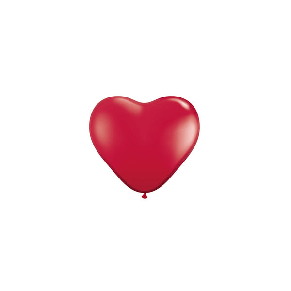 Mini Red Heart Balloons (pack of 5)