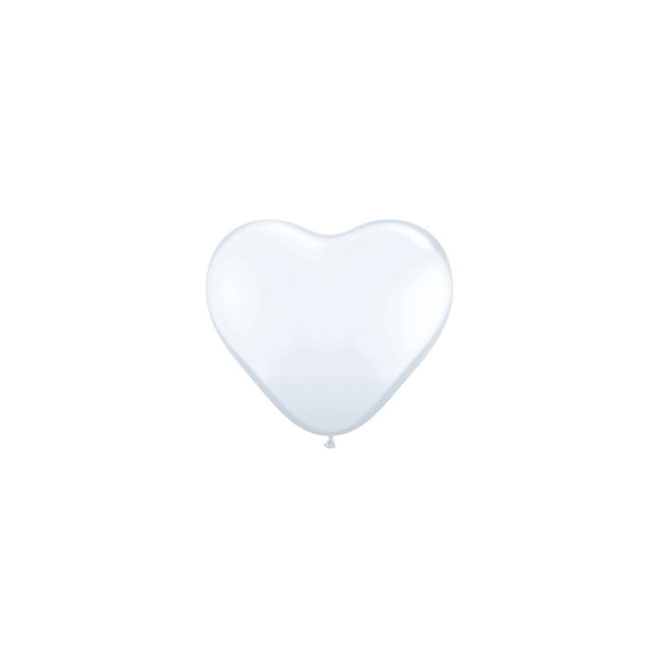 Mini White Heart Balloons (pack of 5)