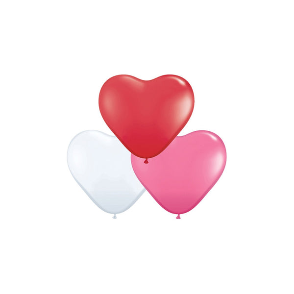 Love Mix Mini Heart Balloons (pack of 5)  Mini Heart Shaped Balloons Hello Party Essentials - Hello Party