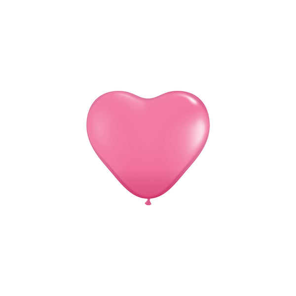 Mini Rose Pink Heart Balloons (pack of 5)
