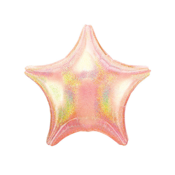"Pink Sparkle Star Shaped Foil Balloon (19"")"