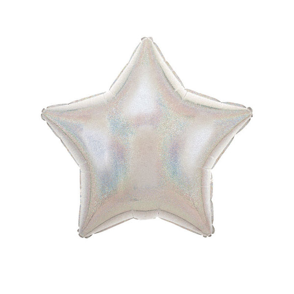 "Silver Sparkle Star Shaped Foil Balloon (19"")  Balloons Hello Party Essentials - Hello Party"