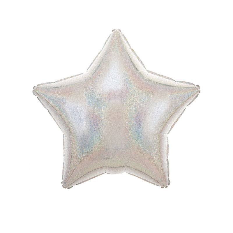 "Silver Sparkle Star Shaped Foil Balloon (19"")"