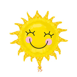 Smiley Happy Sunshine Large Foil Balloon  Balloons Anagram - Hello Party