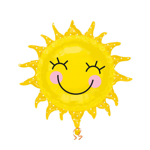 Smiley Happy Sunshine Large Foil Balloon