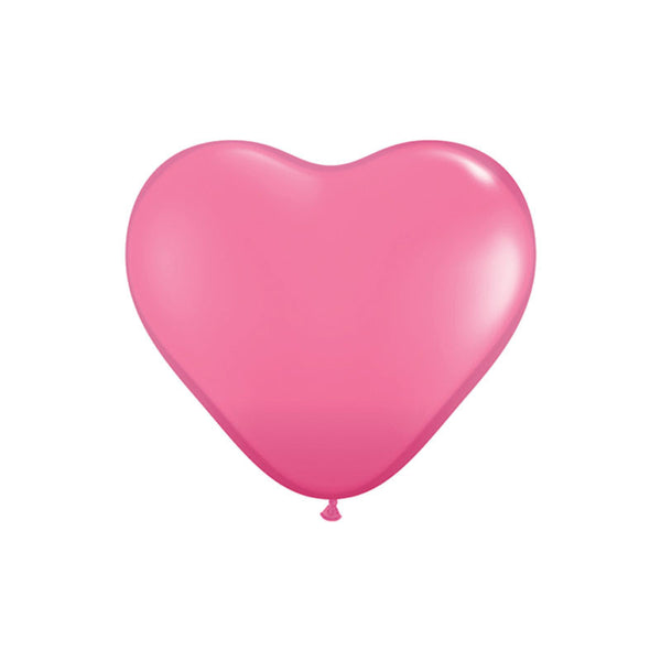 Rose Heart Shaped Balloons