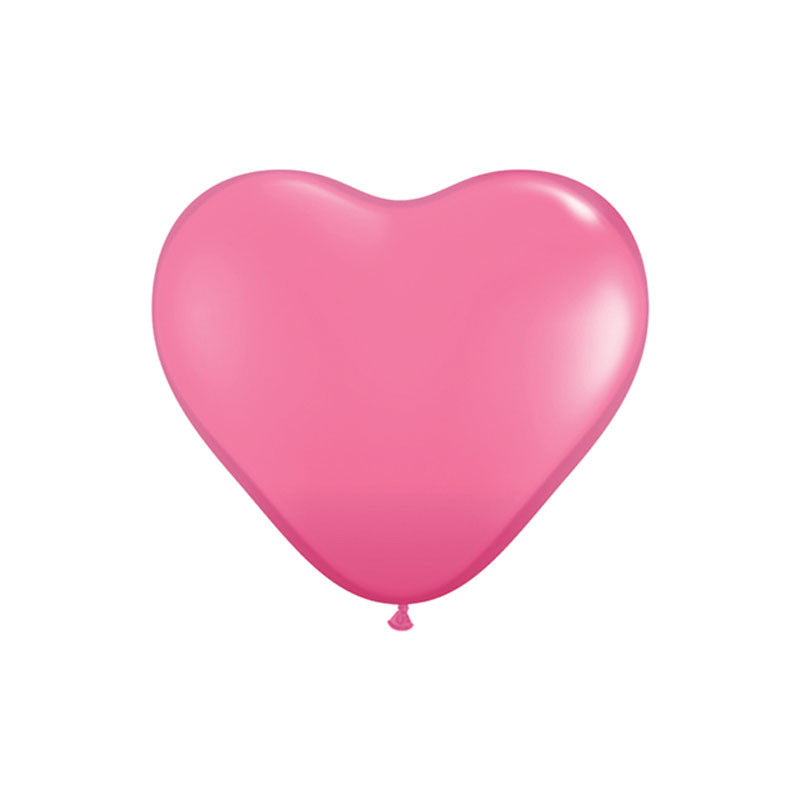 Rose Pink Heart Shaped Balloons  Heart Shaped Ballloons Hello Party Essentials - Hello Party