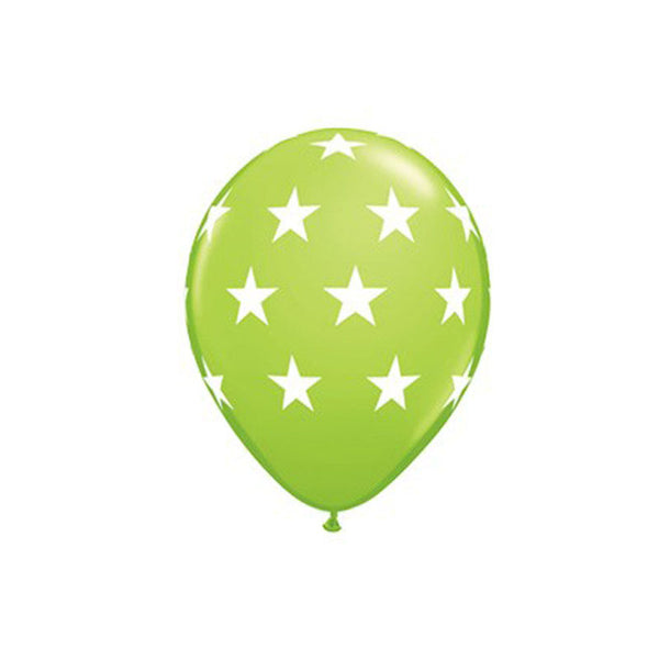 Green Stars Balloons  Printed Latex Balloons Hello Party Essentials - Hello Party