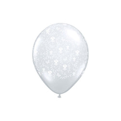 Pretty Floral Print Clear Balloons  Printed Latex Balloons Hello Party Essentials - Hello Party