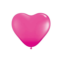 Raspberry Heart Shaped Balloons  Heart Shaped Ballloons Hello Party Essentials - Hello Party