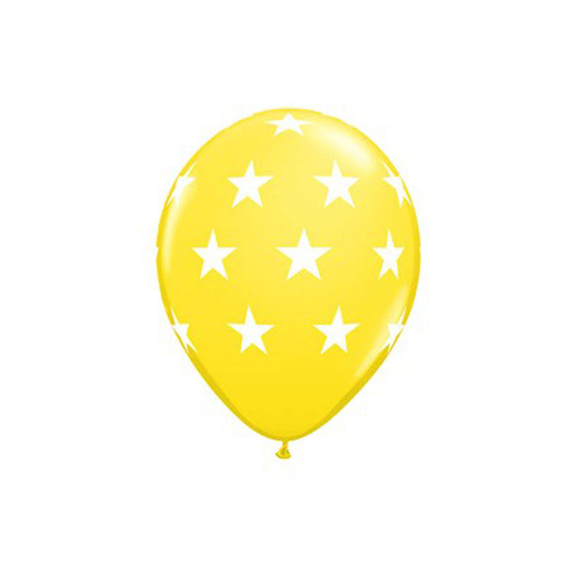 Lemon Stars Balloons  Printed Latex Balloons Hello Party Essentials - Hello Party