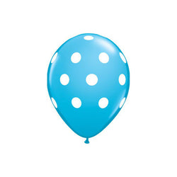 Blue Polka Dot Balloons  Printed Latex Balloons Hello Party Essentials - Hello Party