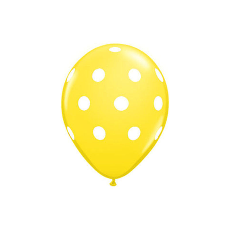 Lemon Yellow Polka Dot Balloons  Printed Latex Balloons Hello Party Essentials - Hello Party