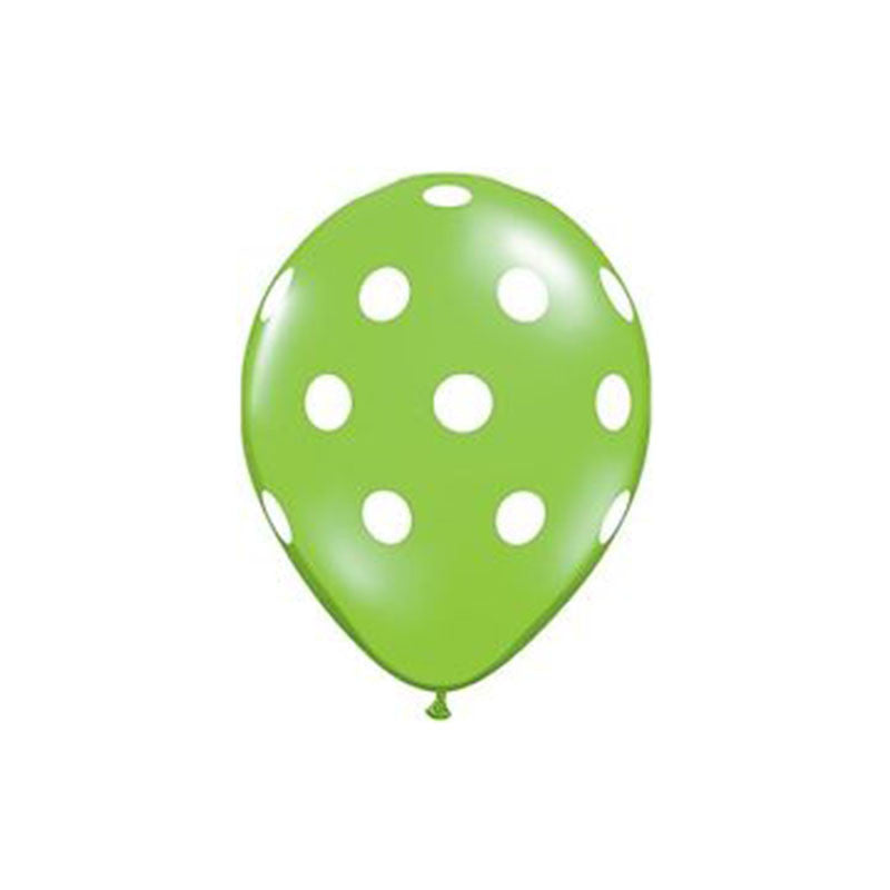 Green Polka Dot Balloons  Printed Latex Balloons Hello Party Essentials - Hello Party