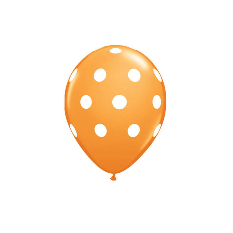 Orange Polka Dot Balloons  Printed Latex Balloons Hello Party Essentials - Hello Party