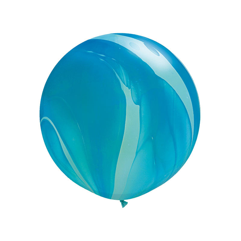 Giant Blue Rainbow Marble Balloon 36""