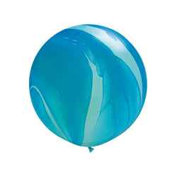 "Giant Blue Rainbow Marble Balloon 36""  Giant Marble Balloon Hello Party Essentials - Hello Party"