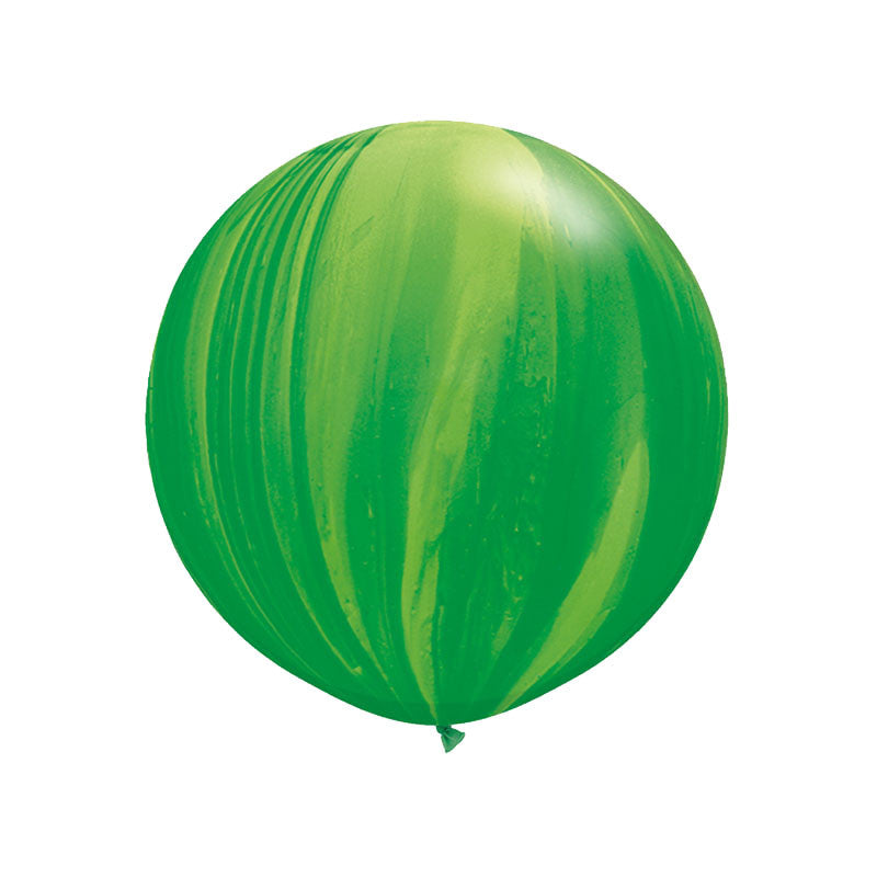 "Giant Green Rainbow Marble Balloon 36""  Giant Marble Balloon Hello Party Essentials - Hello Party"