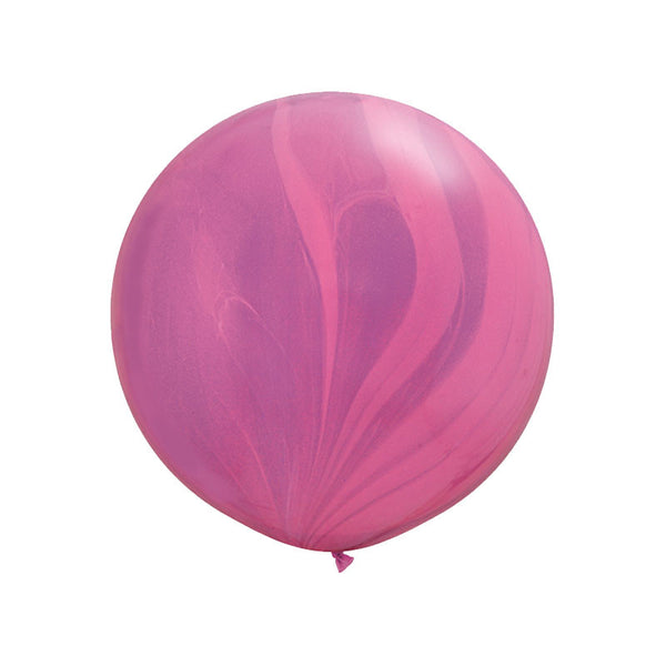"Giant Pink & Violet Rainbow Marble Balloon 36""  Marble Balloon Hello Party Essentials - Hello Party"