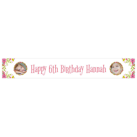 Pretty Flower Birthday Banner 2