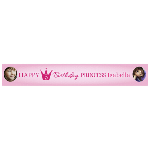 Fairy Princess Banner <br/> with spaces for 2 photos and a name or message  Personalisable Banner Hello Party - All you need to make your party perfect! - Hello Party