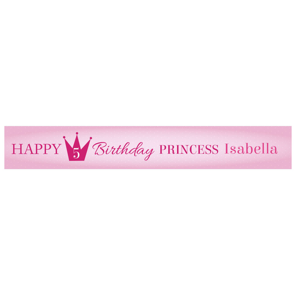Fairy Princess Banner <br/> with a space for a name or message