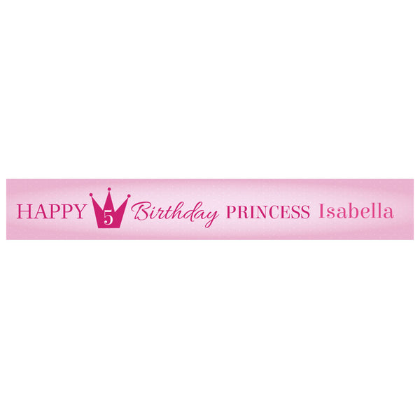 Fairy Princess Banner <br/> with a space for a name or message  Personalisable Banner Hello Party - All you need to make your party perfect! - Hello Party
