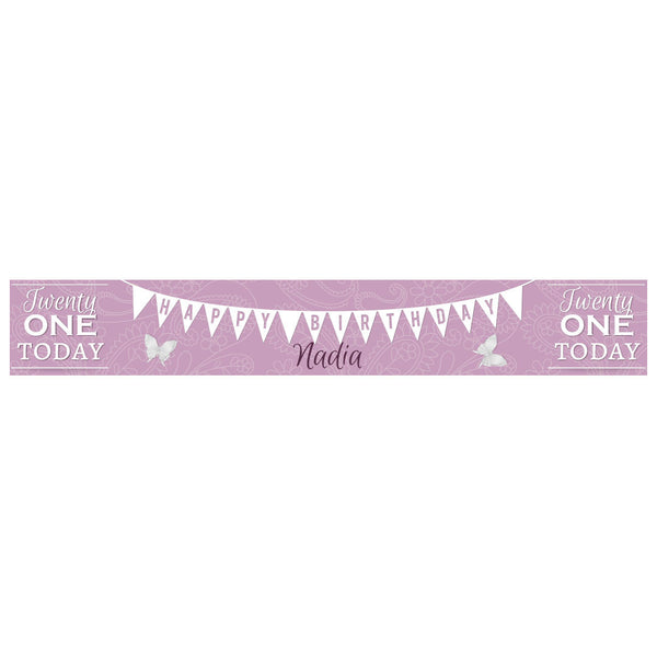 Twenty One Today Banner <br/> with a space for a name or message