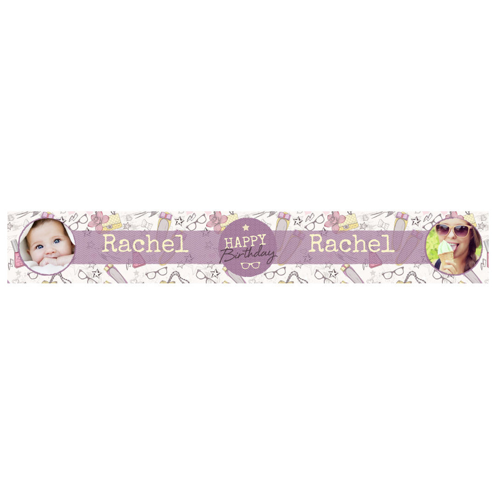 Fashion Star Banner <br/> with spaces for 2 photos and a name or message