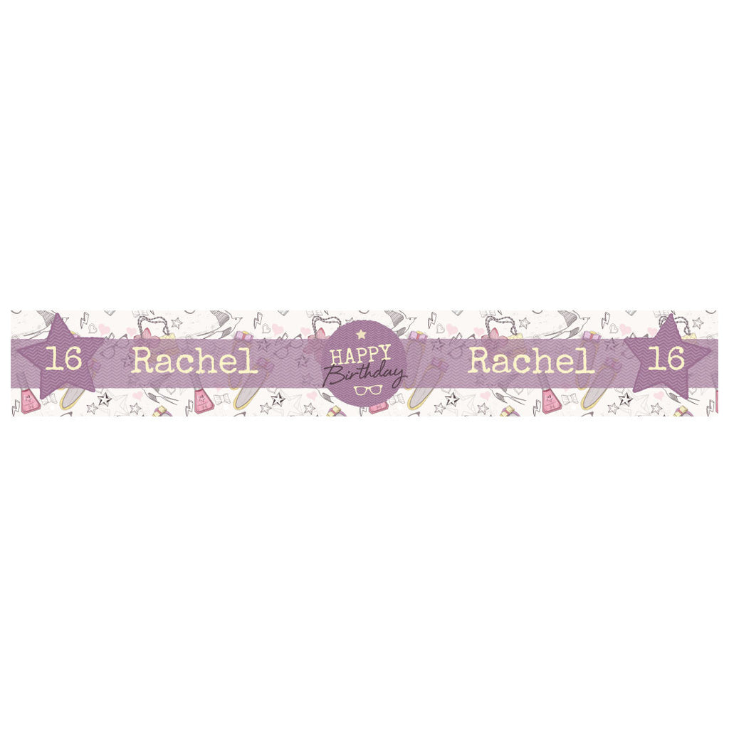 Fashion Star Banner <br/> with a space for a name or message