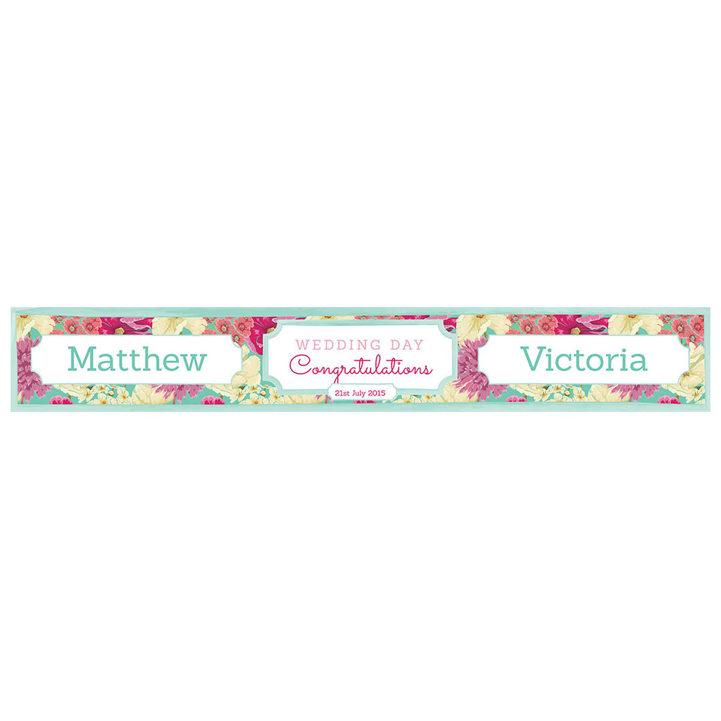 Big & Bright Wedding Blooms Banner <br/> with a space for a name or message - Hello Party - All you need to make your party perfect!