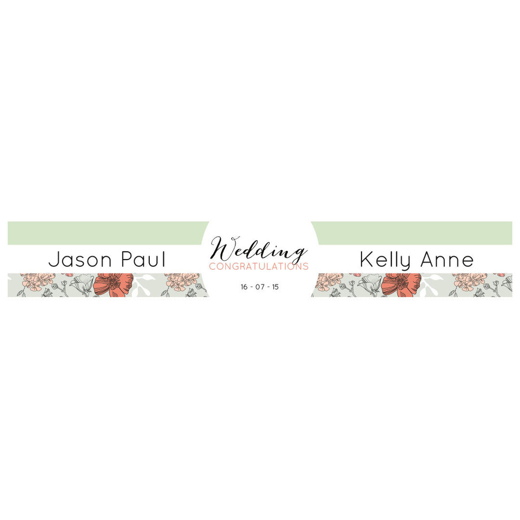 Wedding Wallpaper : Mint & Coral Banner <br/> with a space for a name or message