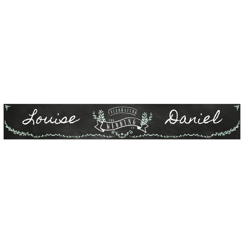 Blackboard Wedding Banner <br/> with a space for a name or message  Personalisable Banner Hello Party - All you need to make your party perfect! - Hello Party